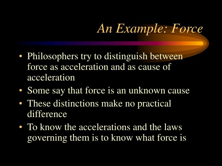 An Example: Force