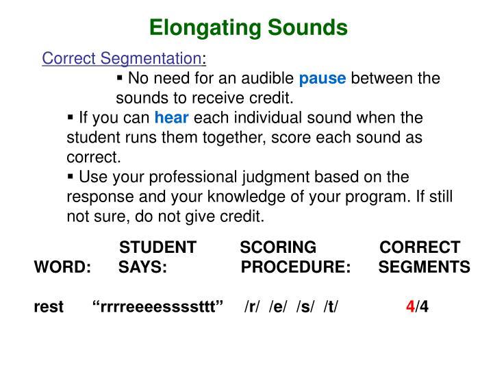 Elongating Sounds