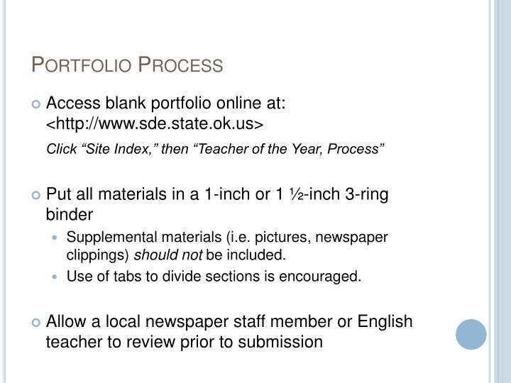 Portfolio Process