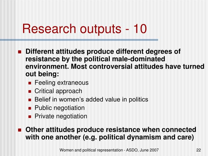 Research outputs - 10