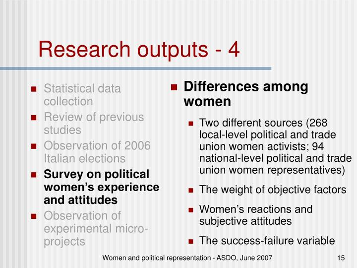 Statistical data collection