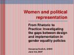 women and political representation