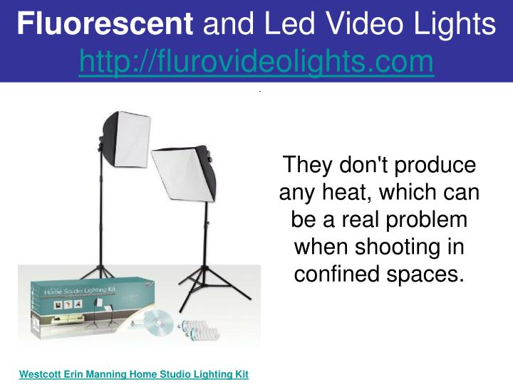 Fluorescent and led video lights http flurovideolights com2