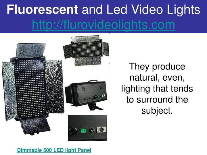 Fluorescent and led video lights http flurovideolights com3