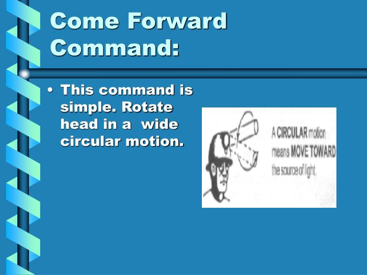 Come Forward Command: