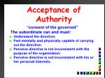 acceptance of authority1