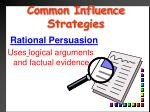 common influence strategies12