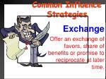 common influence strategies14