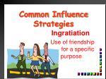 common influence strategies2