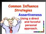common influence strategies5