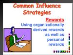 common influence strategies9