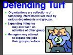 defending turf