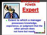 interpersonal power expert