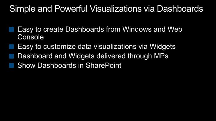 Simple and Powerful Visualizations via Dashboards