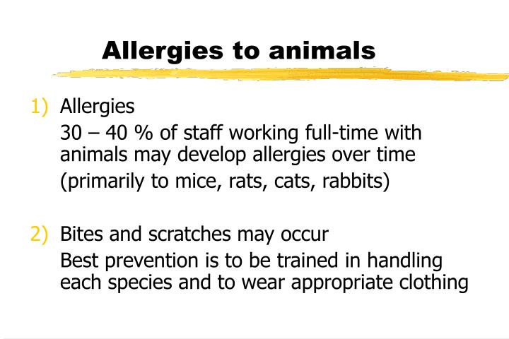Allergies to animals