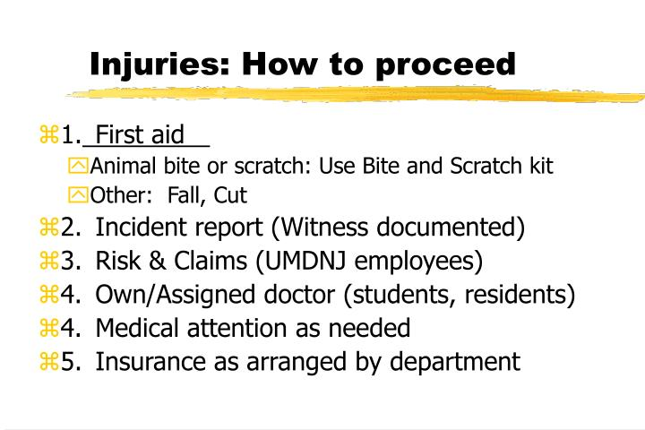 Injuries: How to proceed
