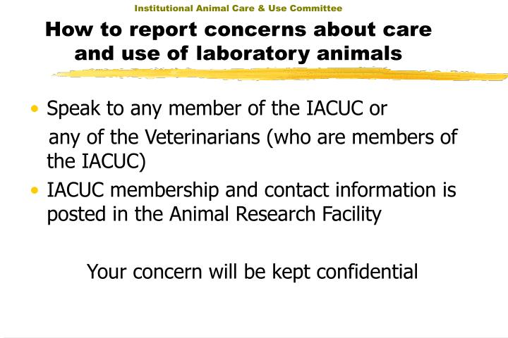 Institutional Animal Care & Use Committee