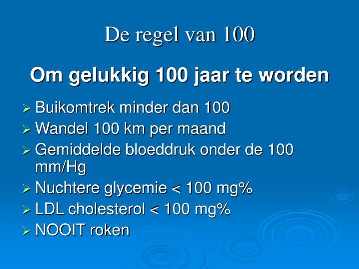 De regel van 100