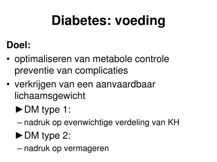 Diabetes: voeding