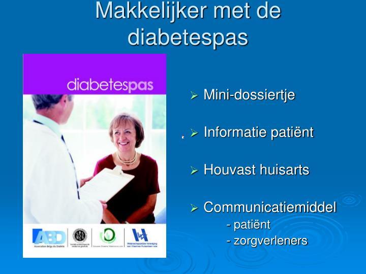 Makkelijker met de diabetespas