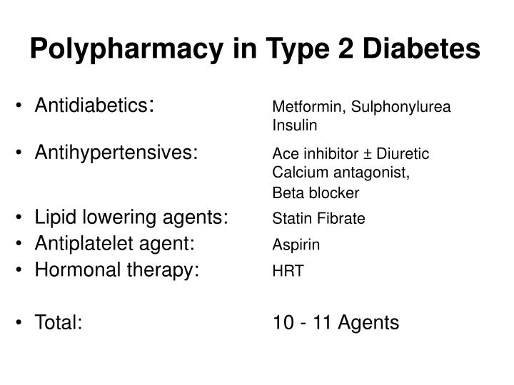 Polypharmacy in Type 2 Diabetes