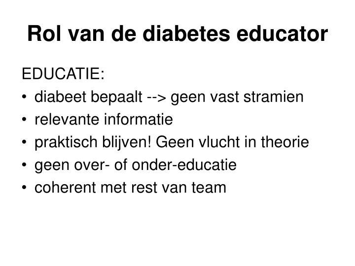 Rol van de diabetes educator