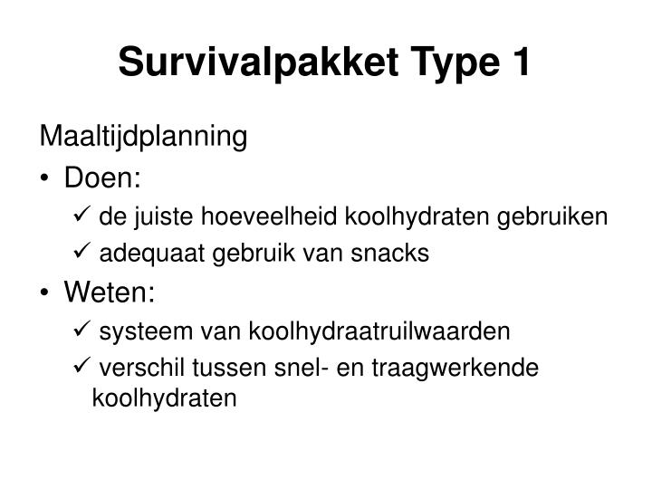 Survivalpakket Type 1