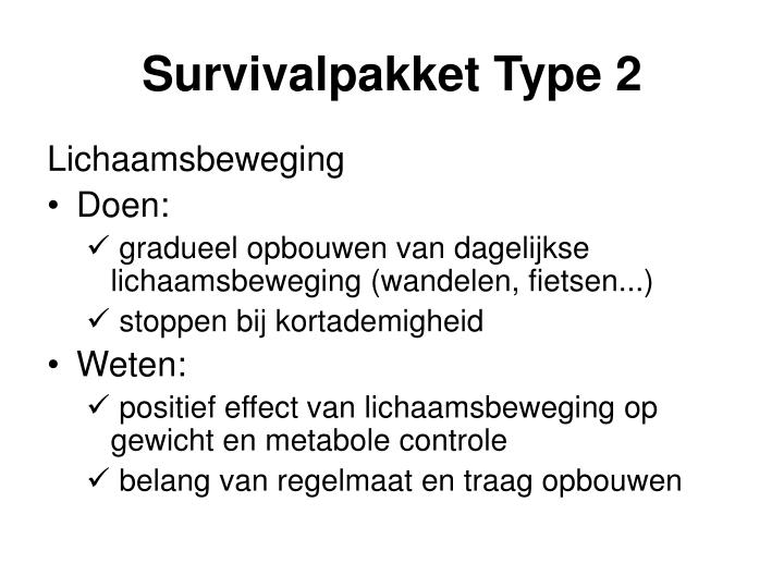 Survivalpakket Type 2
