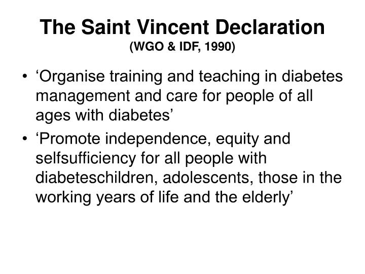 The Saint Vincent Declaration