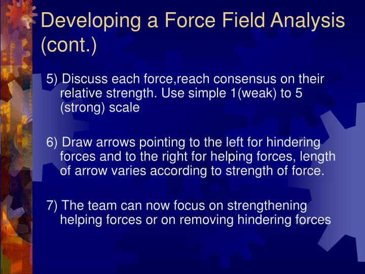 Developing a Force Field Analysis (cont.)