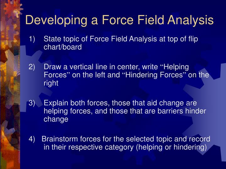 Developing a Force Field Analysis