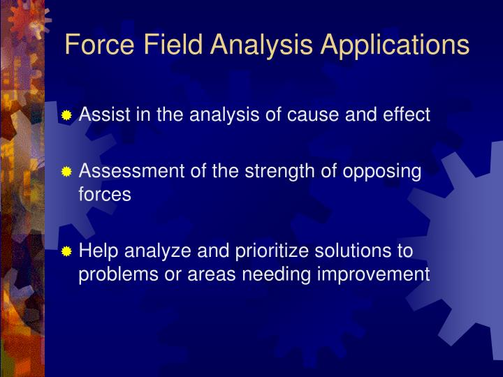 Force field analysis applications