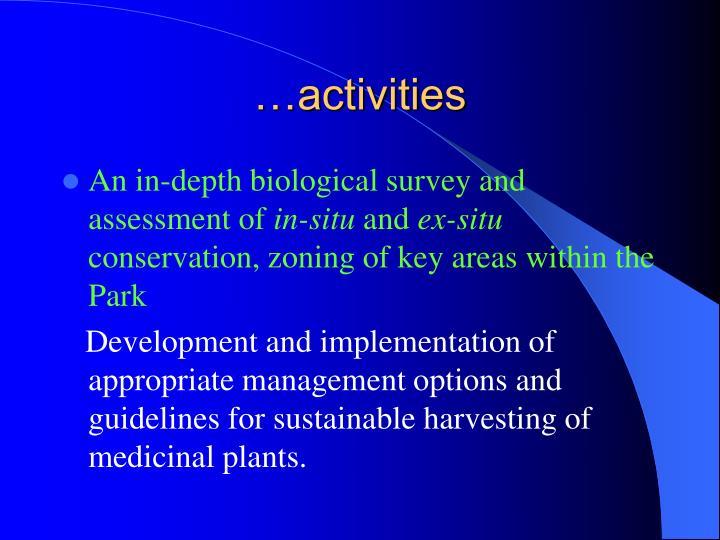 …activities