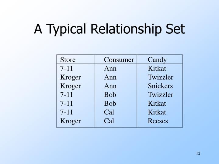 A Typical Relationship Set