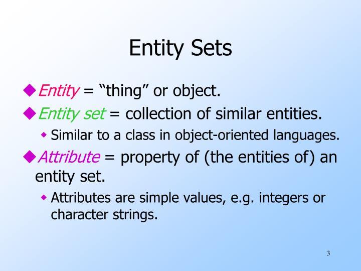 Entity Sets