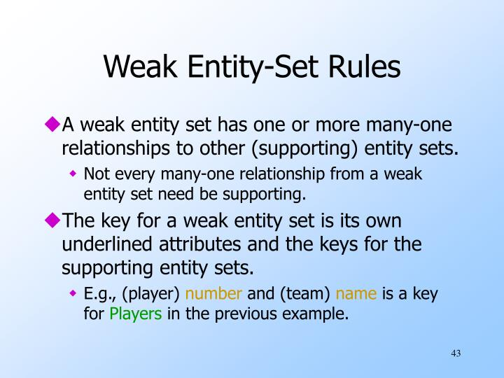 Weak Entity-Set Rules