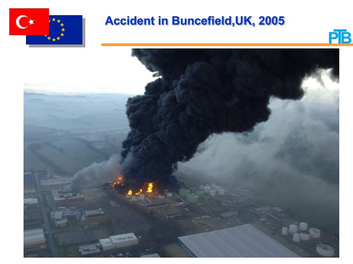 Accident in Buncefield'UK, 2005