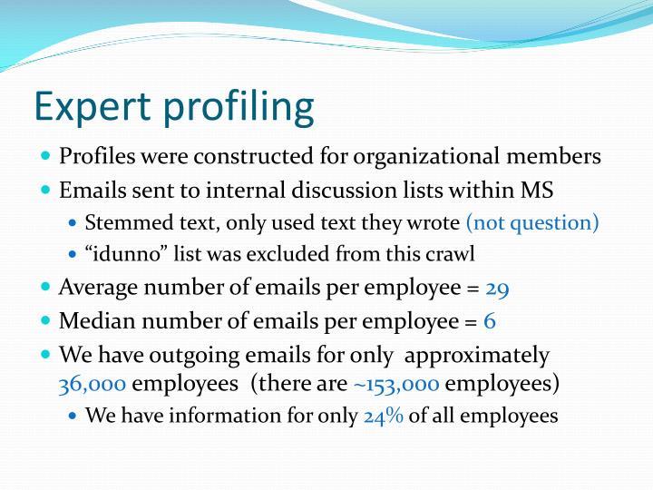Expert profiling