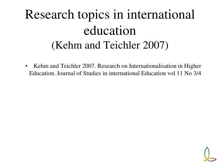 education research topics This article presents an overview of the sociology of education unlike many academic disciplines, the sociology of education.