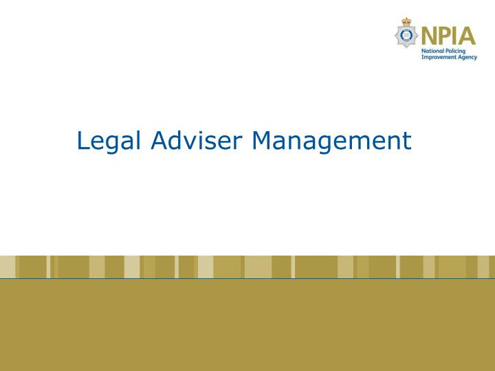 Legal Adviser Management