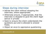 steps during interview1