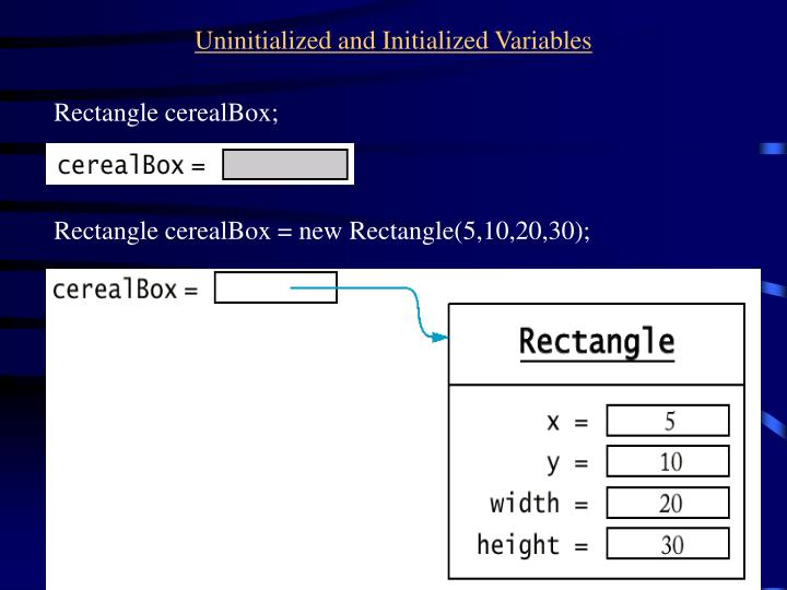 Uninitialized and Initialized Variables
