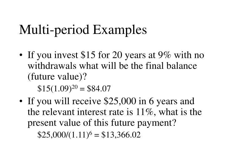 Multi-period Examples
