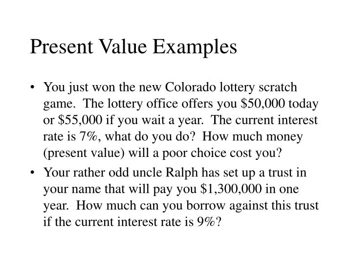 Present Value Examples