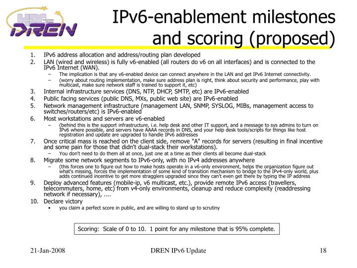 IPv6-enablement milestones