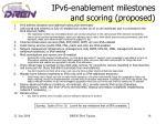 ipv6 enablement milestones and scoring proposed