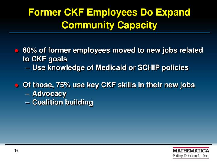Former CKF Employees Do Expand Community Capacity