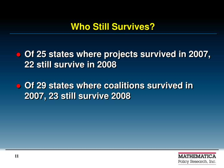 Who Still Survives?