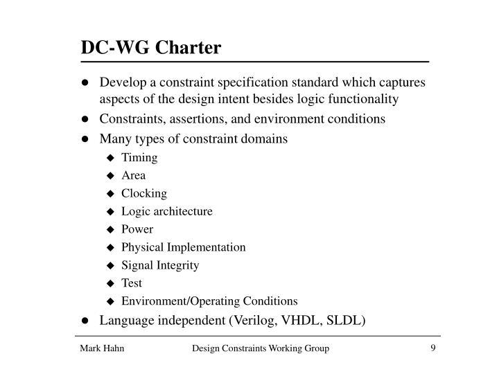DC-WG Charter