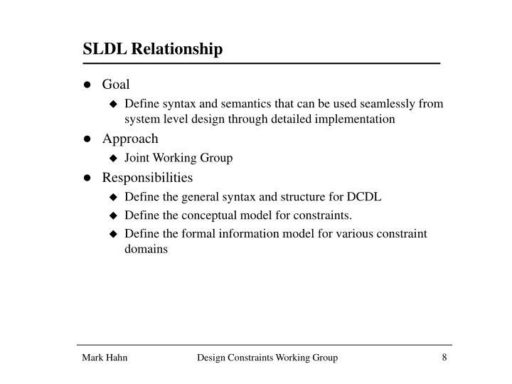 SLDL Relationship